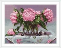 Vase Of Peonies Petit Cross Stitch Kit By Luca S