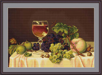 Still Life With Wine Glass Petit Cross Stitch Kit By Luca S