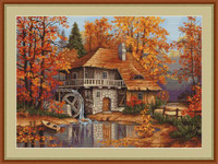 Autumn Landscape Petit Cross Stitch Kit By Luca S