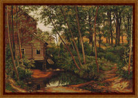 Cabin In Woods Petit Cross Stitch Kit By Luca S