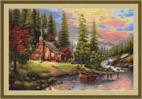 Mountain Cabin Petit Cross Stitch Kit By Luca S