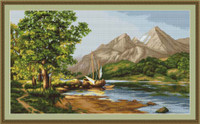 Mountain Lake Petit Cross Stitch Kit By Luca S