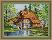 Spring Landscape Petit Cross Stitch Kit By Luca S