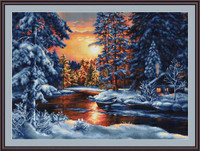 Winter Landscape Ii Petit Cross Stitch Kit By Luca S