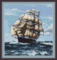 Tall Ship Ii Petit Cross Stitch Kit By Luca S