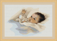 Infant Petit Cross Stitch Kit By Luca S