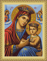 Icon Mother & Child Petit Cross Stitch Kit By Luca S