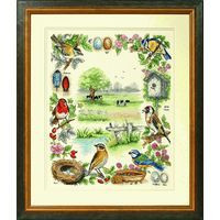 Bird Sampler Cross Stitch Kit By Anchor