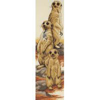 Meerkats Cross Stitch Kit By Anchor