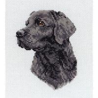 Black Labrador Cross Stitch Kit by Anchor