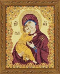 Our Lady of Vladimir Cross Stitch Kit by Riolis