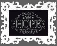 Plant Hope Chalkboard Cross Stitch Kit by Design works