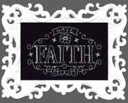 Have Faith Chalkboard Cross Stitch Kit