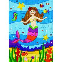 Mermaid Long Stitch Kit By Anchor