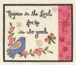 Rejoice in the Lord Cross Stitch Kit by Janlynn
