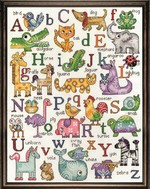 ABC Animals Sampler Cross Stitch Kit by Design Works