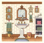 Victorian Sink Cross Stitch Kit by Janlynn