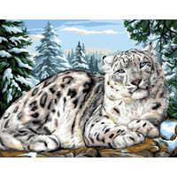 Snow Leopard Tapestry Canvas By Royal Paris