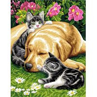 Three Friends Tapestry Canvas By Royal Paris