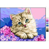 Chaton Tapestry Canvas By Royal Pairs