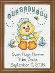 Boy Chick Cross Stitch Kit by Design Works
