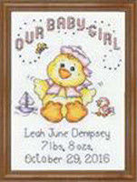 Girl Chick Cross Stitch Kit by Design Works