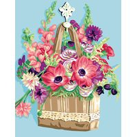 Flower Basket Tapestry Canvas By Royal Paris