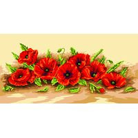 Spray of Poppies Tapestry Canvas By Royal Paris