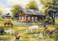 Afternoon in the Country Cross Stitch Kit by Riolis