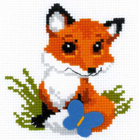 Little Fox Cross Stitch Kit by Riolis