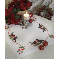 Bullfinches Xmas Tablecloth Kit