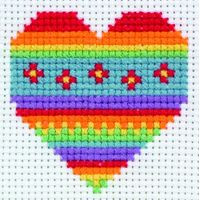 Heart Starter Cross Stitch Kit By Anchor