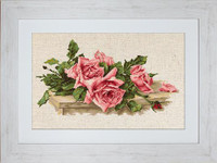 Pink Roses Cross Stitch Kit by Luca-s