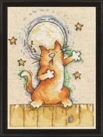 Singing Cat Cross Stitch Kit by Design Works