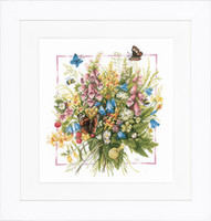 Summer Bouguet Cross Stitch Kit by Lanarte