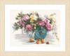 Flowers Cross Stitch Kit By Lanarte