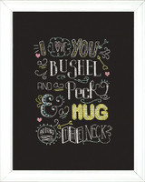 Hug Chalkboard Cross Stitch Kit by Design Works
