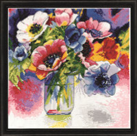 Watercolour Anemones Cross Stitch Kit by Design Works