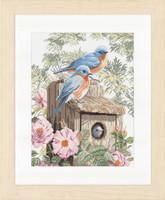 Garden Blue Birds Cross Stitch Kit By Lanarte