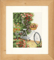 Bicycle Cross Stitch Kit by Lanarte