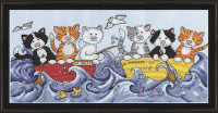At Sea Cats Cross Stitch Kits by Design Works