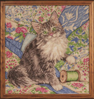 Cat on Quilt Cross Stitch Kit by Design Works
