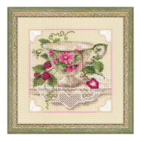 Raspberry Tea Cross Stitch Kit by Riolis