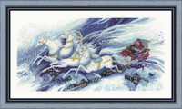 Magical Sleigh Ride Cross Stitch Kit