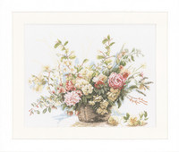 Basket of Roses Cross Stitch Kit by Lanarte