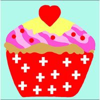 Cupcake Tapestry Starter Canvas By Royal Paris