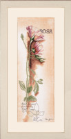 Rosa Botanical Cross Stitch Kit by Lanarte
