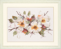 Apple Blossom Cross Stitch Kit by Lanarte