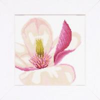 Magnolia Flowers Cross Stitch Kit by Lanarte