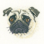 Pug Cross Stitch Kit by Heritage